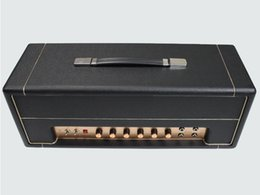 Wholesale JTM45 50W Vintage Style Cabinet Hand Wired All Tube Electric Guitar Amplifier Head in Black with KT66 Tube Musical Instruments Free Shipping