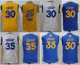 Cheap Kids 35 Kevin Durant 30 Curry Jersey boy child youth Shirts Stitched  Jerseys top Quanlity 8 Photos  Men s Golden State Warriors ... 7440f97ef