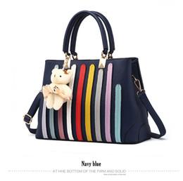 $enCountryForm.capitalKeyWord UK - New Arrivals women bag Fashion Rainbow Leather bag Handbags Appliques ladies party crossbody bags Bear Toy bolsa feminina
