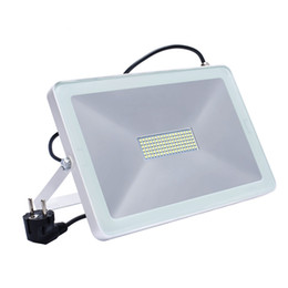 Plug wall lights uk online shopping - LED Flood Light W W W Reflector Led Spotlight EU UK US Plug Floodlight Waterproof IP66 Outdoor Wall Lamp Garden Projector