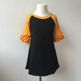 $enCountryForm.capitalKeyWord Canada - Bulk Kids Clothing Kids Wears Comfort Colors Dress Ruffle Sleeve Icing Raglan Dress Girls Long Sleeve Dress