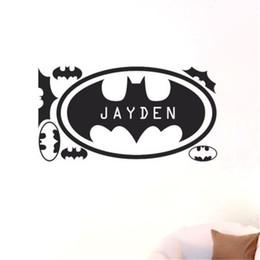 Custom Personalised Any Name Batman Home Wall Art Stickers For Kid Boys Room  Home Decor Mural DIY 30*60 Cm