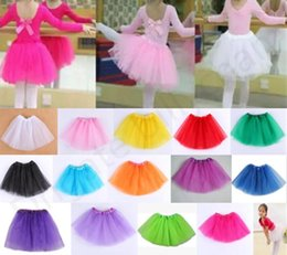 Vêtements De Danse Pour Le Ballet Pas Cher-14 couleurs Jupes Tutu pour enfants bébé Tutu Jupe Filles Princesse Danse Jupes Baby Girls Ballet Dance Wear Party costume Livraison gratuite D834