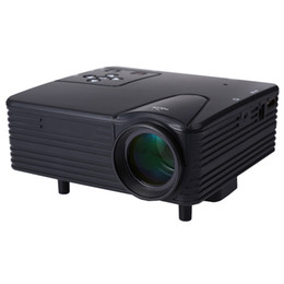 Discount hd vga box - Wholesale-Full HD Home Theater projector H80 mini portable LCD projector 80 Lumens support 1080p with AV VGA SD USB HDMI