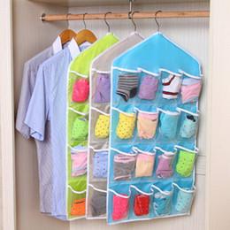 $enCountryForm.capitalKeyWord Canada - Wholesale- 16 Pockets Hanging Bag High Quality Durable Clear Door Hanging Bag Shoe Rack Hanger Practical Storage Tidy Organizer