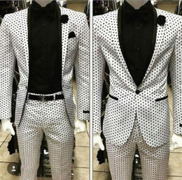 white suit photos NZ - Custom white men wave point suit suits the groom wedding dress business casual party graduation photos cathedral of cultivate one's morality