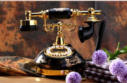 Discount european telephone antique - Decoration Arts crafts home high-end JIAHUA ceramic vintage European pastoral antique telephone machine seat home creati