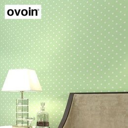 online shopping Modern simple shimmer small Polka dots non woven wallpaper Dolls House bedroom home decor for kids room