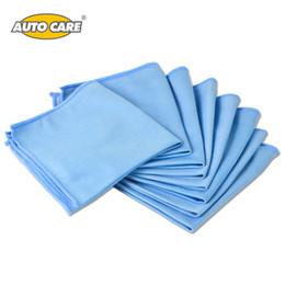 Оптово-автоматическая уборка 8-Pack автомобилей Microfiber Glass Cleaning Полотенца из нержавеющей стали Полировка Shine Cloth Window Windshield Cloth 12