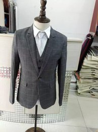 Costumes Sur Mesure Chine Pas Cher-Real Real pics Men costures V-Neck manches longues Custom Made Men Tailor Suruimei Factory en Chine