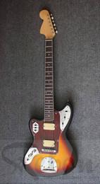 electric jaguar 2019 - Wholesale-Weifang Rebon jaguar HH pickup left hand electric guitar in sunburst colour cheap electric jaguar