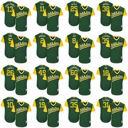 timeless design c1445 b0dcb coupon for mlb jerseys oakland athletics 8 jed lowrie yellow ...