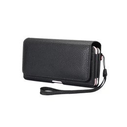 leather belt holster case NZ - 2 Slots New Black Universal Holster Belt Clip PU Leather Pouch Cell phone Bag Cover Case For LG P940 P970 P925 P993 P930