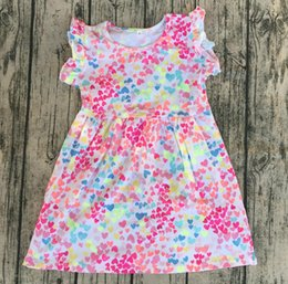 designs dress Canada - kids Cotton Frock Designs Fancy Dresses fashion style for baby children Girls Summer Flutter sleeveless Dresses