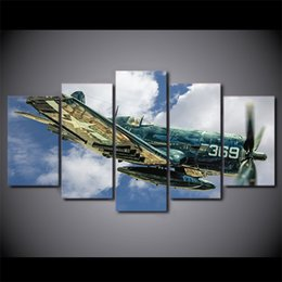 5 pcs set framed printed jet aircraft vintage plane poster modern home wall decor canvas picture art hd print painting
