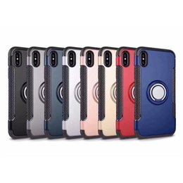 magnetic boxes wholesale UK - For iPhone X Hard Case with Magnetic Holder for iPhone 5 6 7 8 Plus for Samsung S7 S7 edge S8 S8 Plus with Retail Box 50pcs up