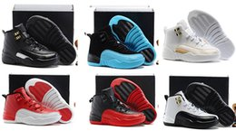 Discount Kids Athletic Shoes Canada - more Kids Discount 12 Shoes Children Basketball Shoes for Boys Girls 12s Black Sports Toddlers Athletic Shoes Birthday Gift