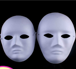 diy cosplay Australia - DIY woman &man white face Masks Hand Painted suit for Halloween Masquerade Party cosplay masks blank face masks