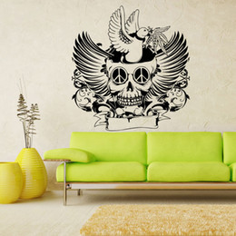 $enCountryForm.capitalKeyWord NZ - Halloween skull wall stickers new carved waterproof PVC can be removed wall stickers sitting room background decorative stickers