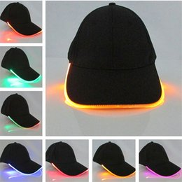 led glow ball lights Australia - Led Light Cap for Women Men Adult glow in the dark Hats Luminous Baseball hat Fashion Mens Sport Hip Hop caps wholesale Christmas Party Gift