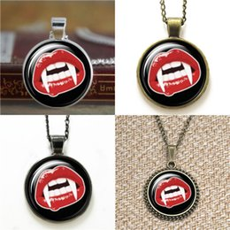 Wholesale halloween vampire games for sale – halloween 10pcs Vampire ASD2 Queen of the darkness inspired The game is on Glass Photo Necklace keyring bookmark cufflink earring bracelet