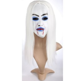 Chinese  1pc Horrible Creepy Ghost Mask ,Halloween Costume Prop Latex Rubber Halloween Mask Masquerade Masks Hot Selling Gi 871477 manufacturers
