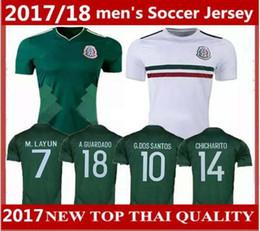 2018 mexico home away soccer jersey thai quality 2017 g.dossantos c.vela mexico