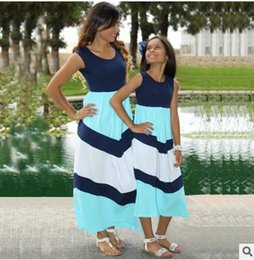Outfits For Mothers Daughters Canada - Vest Dress Mom Daughter Beach Dress Family Matching Outfits For Mother Daughter Sleeveless Parent Child Outfit Summer Holiday Vacation