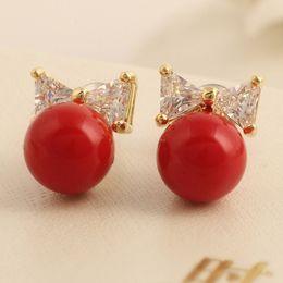 $enCountryForm.capitalKeyWord Canada - XS Red Pearl Shell Powder Pearl Earrings Stud Earrings Wholesale Lattice Shop Supplies B1738