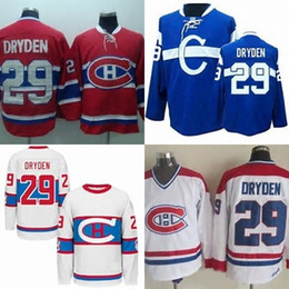 e1a53fc1183 ... Home Jersey - Red Authentic Hot Sale Mens Montreal Canadiens 29 Ken  Dryden Red Blue White Best Quality Cheap 100% ...