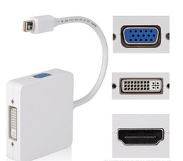 $enCountryForm.capitalKeyWord Australia - Mini DisplayPort (3 in 1) Thunderbolt to HDMI DVI VGA Display Port Cable Adapter for Apple Macbook Pro Microsoft Surface Pro 2 3