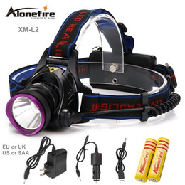 Discount cree outdoor lighting - AloneFire HP81 CREE XM-L2 Led Headlamp 3Modes High Power Head Lamp for Outdoor Fishing Hiking Travelling 2200 Lumens Led
