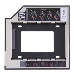 Vendita all'ingrosso- VENDITA CALDA! 2.5,5,5 mm Ssd Hd SATA Hard Disk Drive HDD Caddy Adapter Bay per Cd Dvd Rom Bay ottica Hot Nuovo