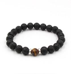 Опт Вулканический камень черный энергия анти-усталость браслеты диаметр 8 мм 2017 hotsell бесплатная доставка whosale лучший подарок браслеты