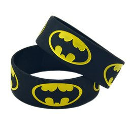 China 50PCS Lot 1 Inch Wide BATMAN Silicone Bracelet Anime Fans Wear This Wristband To Support The One You Love cheap wholesale jelly suppliers