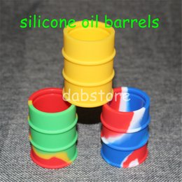 $enCountryForm.capitalKeyWord Canada - Silicone Oil Barrel Containers Jars dab wax vaporizer oil rubber drum shape nonstick container large food grade silicone dry herb tool