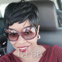 $enCountryForm.capitalKeyWord NZ - Celebrity Cheap Pixie Cut Human Brazilian Hair Very Short Wig Natural Black Human None Lace Guleless Wig For Black Women Blended Hair Wigs
