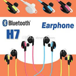 best iphone handsfree NZ - H7 Bluetooth Wireless V4.0 Sport Earphone And Noise Reduction Stereo Headset Headphone Handsfree Best CSR For iPhone X 8 Plus Samsung Note 8