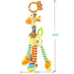 $enCountryForm.capitalKeyWord Canada - Happy Monkey Baby Development Soft Plush Rattle Animal Giraffe Handle Toy Baby Trolley Baby Crib Hanging Teether Toy