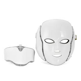 Anti Aging Face Masks UK - Anti aging PDT Beauty Machine Led Light Therapy Face Mask 7 Colors led skin rejuvenation mask