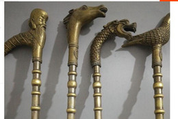 $enCountryForm.capitalKeyWord NZ - MEN crafts Pure Copper Brass The copper cane crutches leading dove stick old horse Zodiac ornament gift cane Free shipping