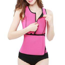 909bf407cc4 10pcs Neoprene Sauna Waist Trainer Vest Hot Shaper Workout Shapewear  Slimming Adjustable Sweat Belt Body Shaper S-3XL Free Shipping AP31