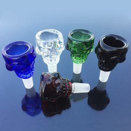 pieces glasses 2019 - High Quality Smoking Accessories Skull Glass Bowl Piece Skull Bowl With 14.5mm Male Joint For Glass Bong Water Rigs Bong