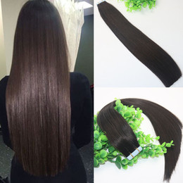 Thick tape hair extensions online thick tape hair extensions for tape in human hair extensions brown 2 glueless 40pcs 100gram brazilian virgin hair skin weft thick end pmusecretfo Gallery