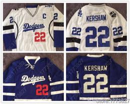 Опт # 22 Clayton Kershaw Jersey # 31 Joc Pederson # 32 Jonathan Quick # 23 Brown LA Dodgers LA Kings Синий Белый Хоккейный Джерси с двойным швом