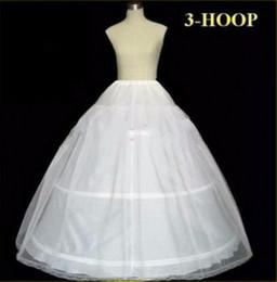 Venta al por mayor de En Stock Enaguas Boda Vestido de Boda Bola 3 Hoop Bone Enaguas Crinolina Completa Para Vestido de Novia Falda de Boda Accesorios Slip