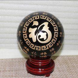 Black Blocks Canada - Natural obsidian crystal ball feng shui ornaments Lucky evil spirits block evil Bedford town house 15cm