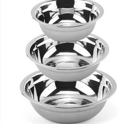 $enCountryForm.capitalKeyWord Canada - Stainless steel soup bowl metal non-magnetic pots egg rice sauce bowl fruit vegetable basin Thickened Deepen style 14-26 cm