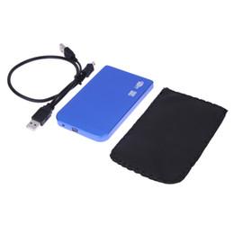 Discount case external hd - USB 2.0 SATA inch HD HDD Hard Disk Drive Enclosure Aluminium Alloy Blue Color 1TB External Storage Case Box For PC Whole