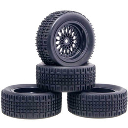 Electric Road Cars UK - RC HSP 2080-7004A Plastic Wheel&Rally Rubber Tires 4P For 1:10 On-Road Rally Car